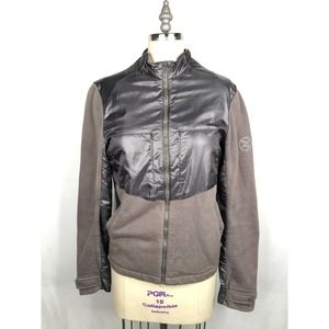 A|X Armani Exchange Moto Style Jacket Silver Gray